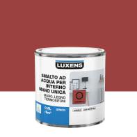 Vernice di finitura LUXENS Manounica base acqua rosso carmen 3 opaco 0.5 L
