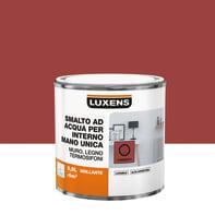 Vernice di finitura LUXENS Manounica base acqua rosso carmen 3 lucido 0.5 L