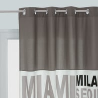 Tenda In the city grigio occhielli 140 x 270 cm