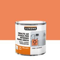 Smalto LUXENS base acqua arancio chili 5 lucido 0.5 L