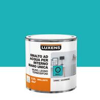 Smalto LUXENS base acqua blu miami 3 lucido 0.5 L