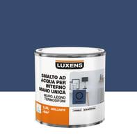 Vernice di finitura LUXENS Manounica base acqua blu zaffiro 1 lucido 0.5 L