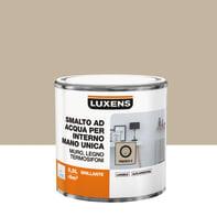 Vernice di finitura LUXENS Manounica base acqua marrone trench 5 lucido 0.5 L