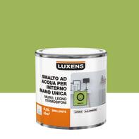 Vernice di finitura LUXENS Manounica base acqua verde bali 3 lucido 0.5 L