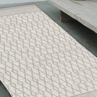 Tappeto Bay in cotone, tessuto a mano, grigio chiaro, 140x200 cm