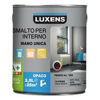 Vernice di finitura LUXENS Manounica base acqua bianco cream 5 opaco 2.5 L