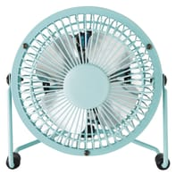 Mini ventilatore EQUATION Lara azzurro blu 4 W Ø 10 cm