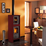 Stufa a legna con forno Morena 6.2 kW bordeaux
