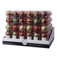 Sfera natalizia in plastica Ø 6 cm confezione da 5 pezzi