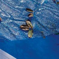 Copertura per piscina a bolle GRE CV250 in polietilene Ø 245 cm