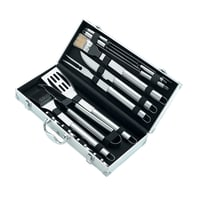 Kit utensili Set accessori barbecue in alluminio