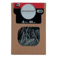 Chiodo testa groppino STANDERS grigio / argento 60 x Ø 2.7 mm, 200 pezzi
