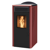 Stufa a pellet ventilata Fusion 8.2 8 kW bordeaux