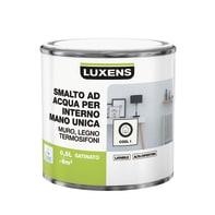 Smalto LUXENS base acqua bianco cool 1 satinato 0.5 L