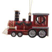 Trenino Treno in plastica rosso H 12 cm, L 4 cmx P 12 cm,