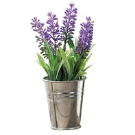 Pianta artificiale Lavanda in vaso di latta H 16.5 cm