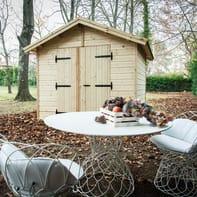 Casetta da giardino in legno Veronica,  superficie interna 8.88 m² e spessore parete 19 mm