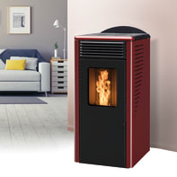 Stufa a pellet ventilata Fusion 10.2 10 kW bordeaux