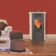 Stufa a pellet Veronica 10.4 kW bordeaux