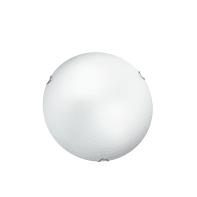 Plafoniera classico Oblo bianco, in vetro,  D. 30 cm 2  luci