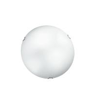 Plafoniera classico Oblo bianco, in vetro,  D. 40 cm 3  luci