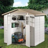 Casetta da giardino in pvc Tuscany Evo 200,  superficie interna 3.13 m² e spessore parete 20 mm