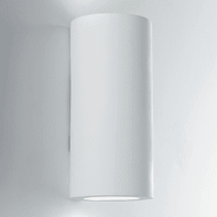 Applique design Banjie bianco, in gesso,  D. 16 cm 2 luci