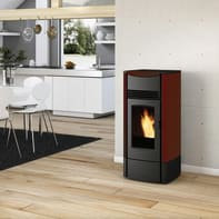 Stufa a pellet Milly 8.2 kW bordeaux