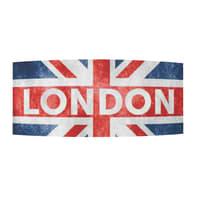 Applique London rosso, blu, acciaio e alluminio, in vetro, 16x42 cm, E14 2xMAX40W IP20 LUMICOM