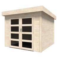 Casetta da giardino in legno Viola Plus,  superficie interna 5.96 m² e spessore parete 28 mm