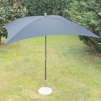 Ombrellone Poli L 2.25 x P 1.9 m color grigio