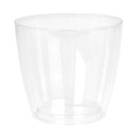 Vaso Sanremo ARTEVASI in polipropilene colore trasparente H 14.5 cm, L 16 x P 16 cm Ø 16 cm