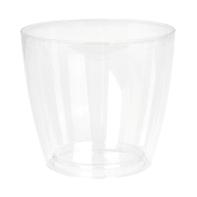 Vaso Sanremo ARTEVASI in polipropilene colore trasparente H 13 cm, L 14 x P 14 cm Ø 14 cm