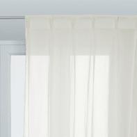Tenda Elisa beige fettuccia e passanti 140 x 280 cm