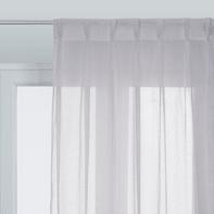 Tenda Elisa grigio fettuccia e passanti 140 x 280 cm