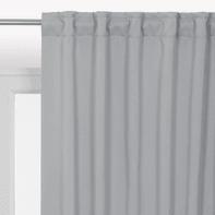 Tenda INSPIRE Oscurante Stopfreddo grigio fettuccia con passanti nascosti 140x280 cm