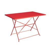 Tavolo da giardino rettangolare Color con piano in ferro L 70 x P 110 cm