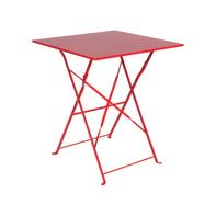 Tavolo quadrato Color con piano in ferro L 60 x P 60 cm