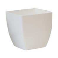 Vaso Quadro Siena ARTEVASI in polipropilene colore bianco H 13.5 cm, L 14 x P 14 cm