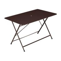 Tavolo da pranzo per giardino rettangolare Cassis con piano in acciaio L 76 x P 118 cm