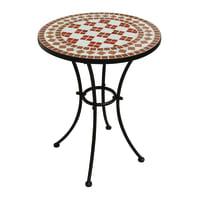 Tavolo da giardino rotondo Tmt con piano in mosaico Ø 55 cm