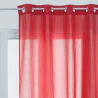 Tenda INSPIRE Flavina rosso occhielli 140 x 280 cm