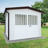 Garage in acciaio al carbonio Chicago SAPIL 11.14 m², Sp 40 mm