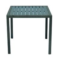 Tavolo da pranzo per giardino quadrato Orleans con piano in resina L 80 x P 80 cm