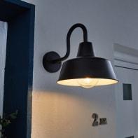 Applique per giardino Sarasotain acciaio, nero, E27 MAX60W IP44 INSPIRE