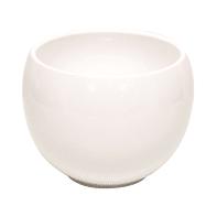 Portavaso Luna in ceramica colore bianco H 12.5 cm, Ø 16.8 cm