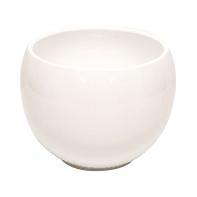 Portavaso Luna in ceramica colore bianco H 9.2 cm, Ø 12.4 cm