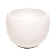 Portavaso Luna in ceramica colore bianco H 17.5 cm, Ø 23.5 cm