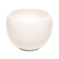 Portavaso Luna in ceramica colore bianco H 15.4 cm, Ø 20 cm