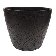 Portavaso Ion ALMAS S.A. in ceramica colore nero H 16 cm, Ø 19.5 cm